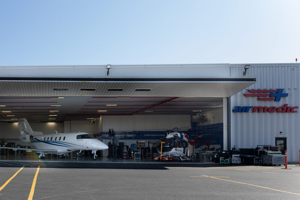Le Hangar d'Airmedic à Saint-Hubert